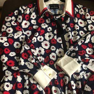 Eloquii Printed Floral Shirt Dress